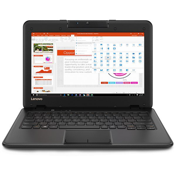 Ноутбук Lenovo 100e N3450/4GB/64S/HD/S/B/C/W10P (81CY001VMH-08-C)