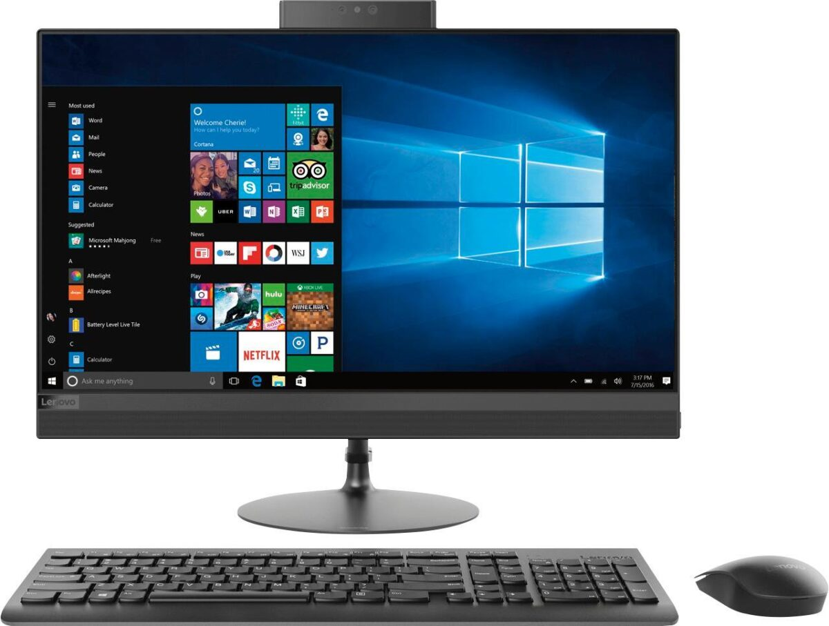 Офисный ПК Lenovo AIO 520-24AST A12-9720P/8GB/1TB-7/FHD/MB/B/C/W10 (F0D3000TUK-08-A)