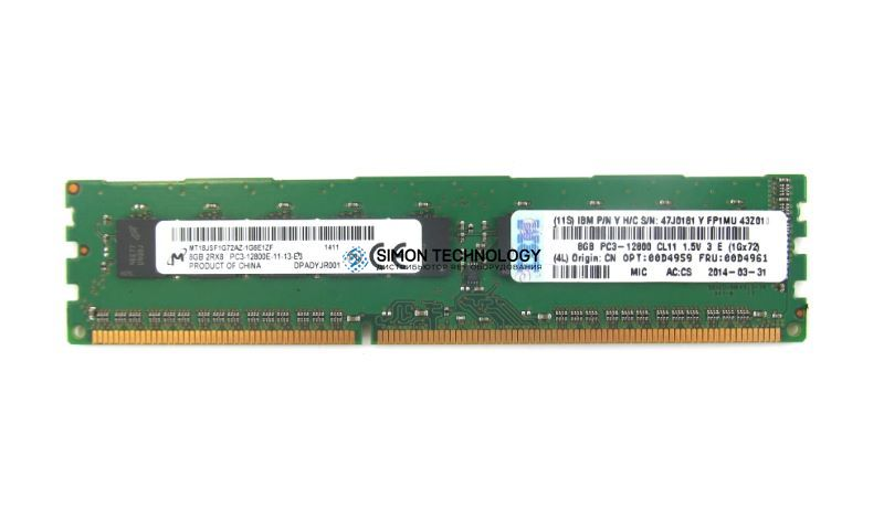 Оперативная память IBM Lenovo Memory 8GB UDIMM (00D4961)