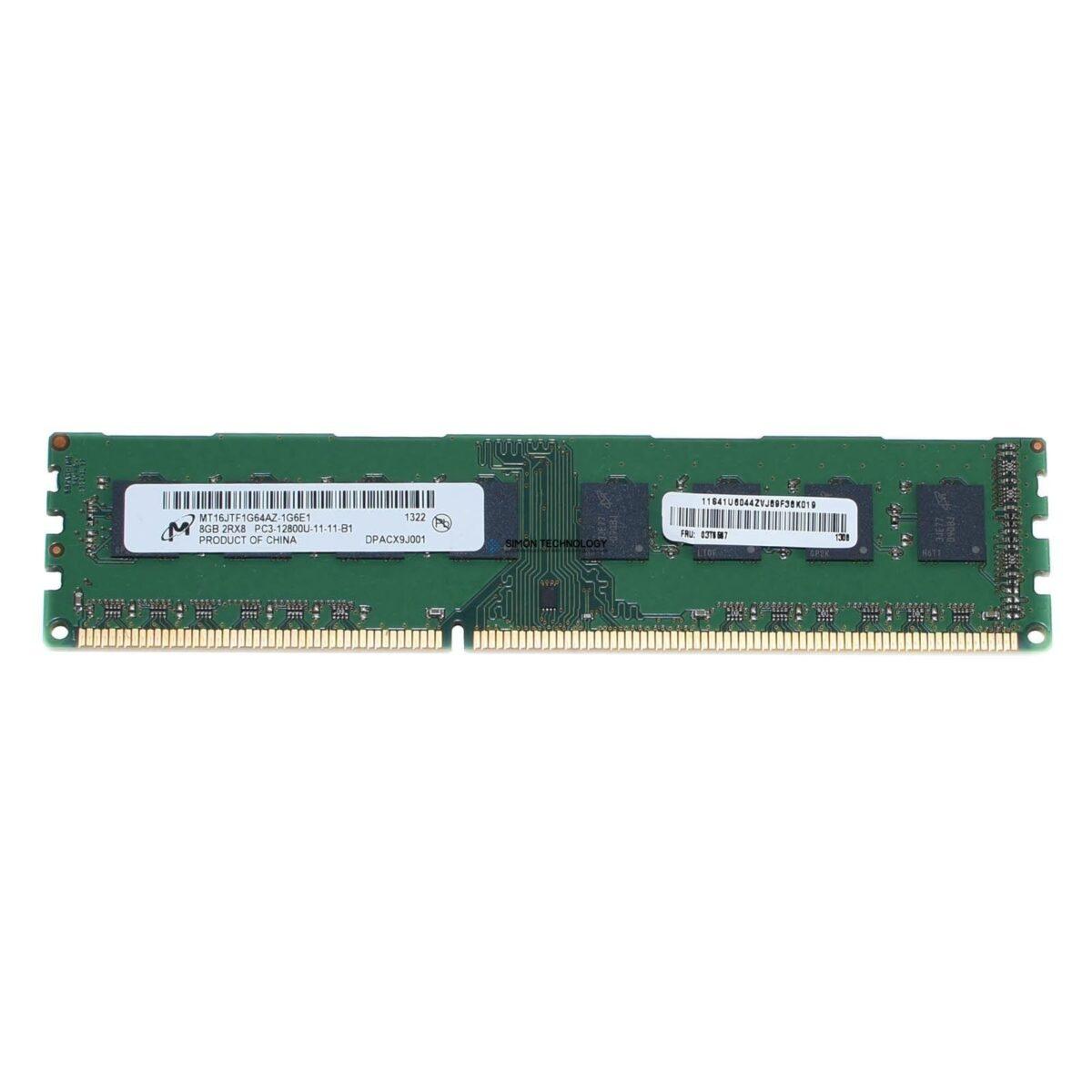 Оперативная память Lenovo Lenovo Memory 8GB 1x8GB 2Rx8 1.35V PC3L-12800 CL11 (00D6046)