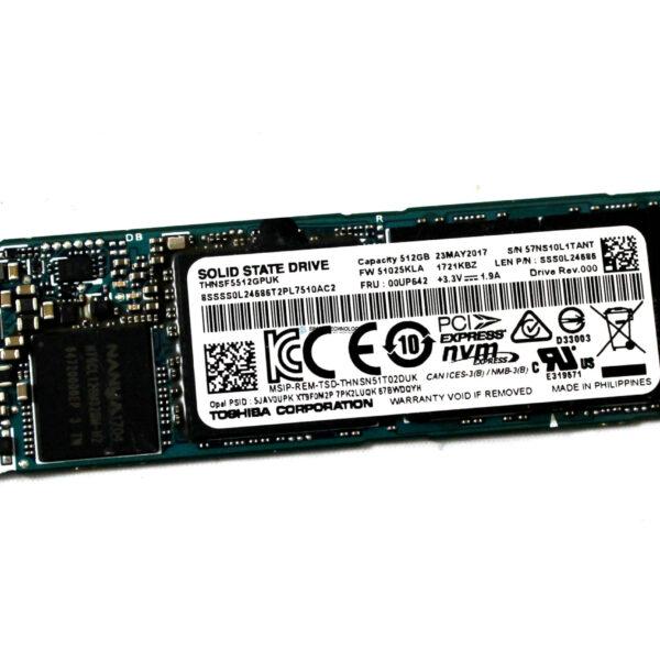 Lenovo ThinkPad 512GB PCIe NVMe M.2 2280 SSD [SS] (00UP642)