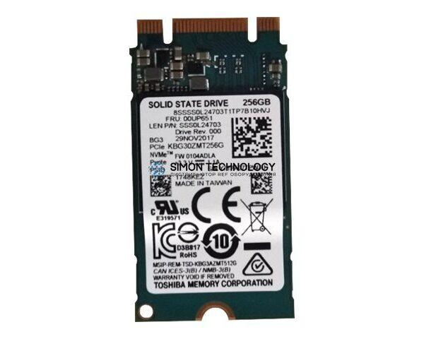 Lenovo ThinkPad 256GB M.2 2242 NVMe PCIe 3x2 (00UP651)