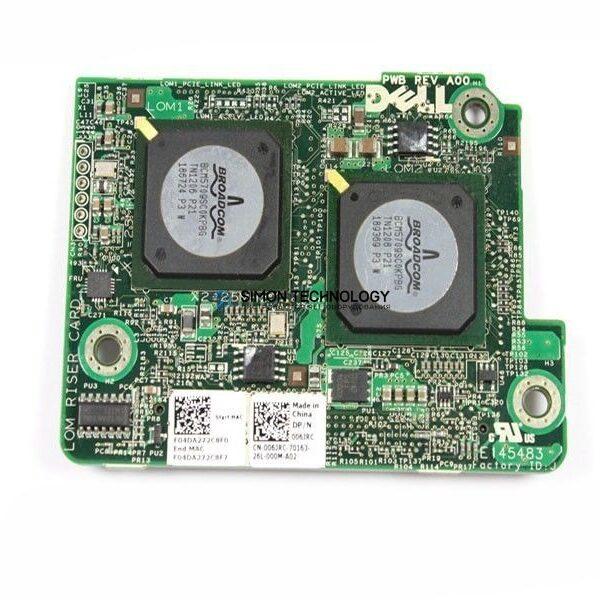 Контроллер Dell Dell Broadcom 5709S Quad-Port GB Mezzanine Network Card (06JRC)
