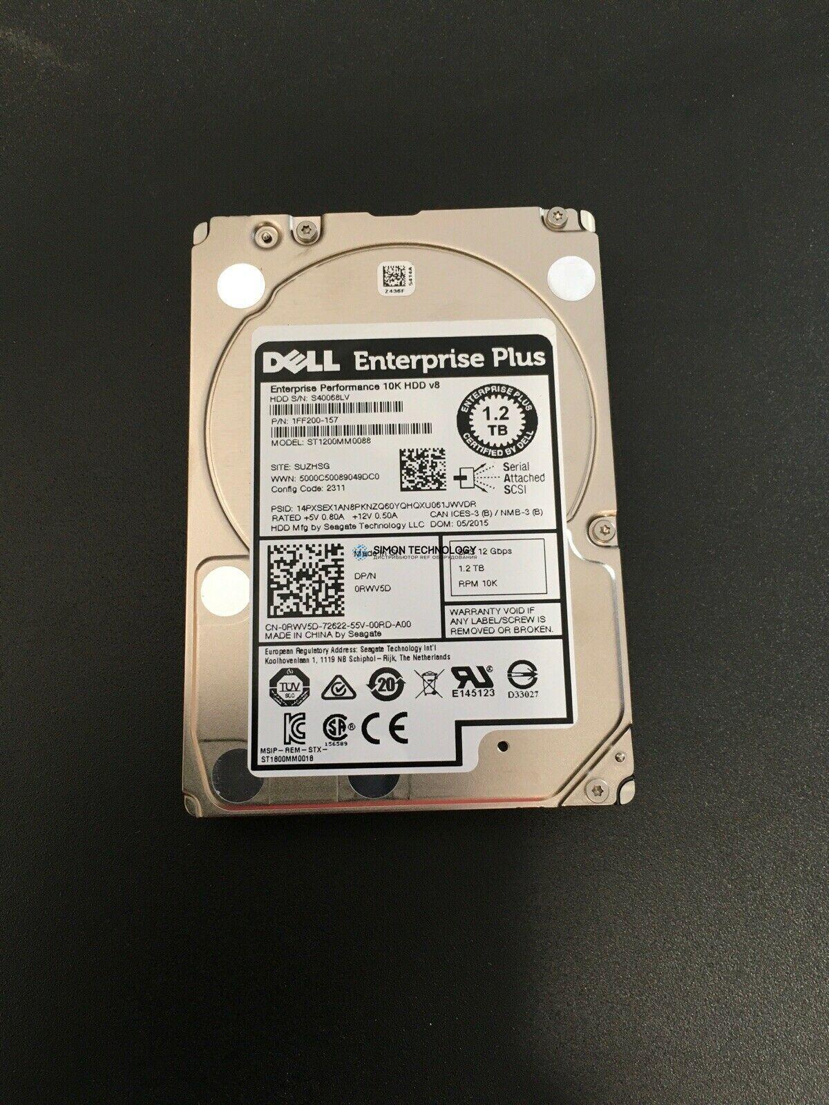 """Dell DELL Dell EQL HDD 1.2TB 12G 10K 2.5"""" SAS (0RWV5D-EQL)"""