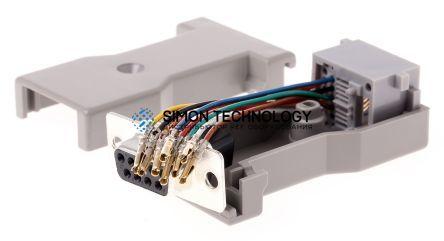Адаптер Roline ROLINE 8P/8C 8-Wire. DB9-RJ45. F/F. Grey (12.03.7530)