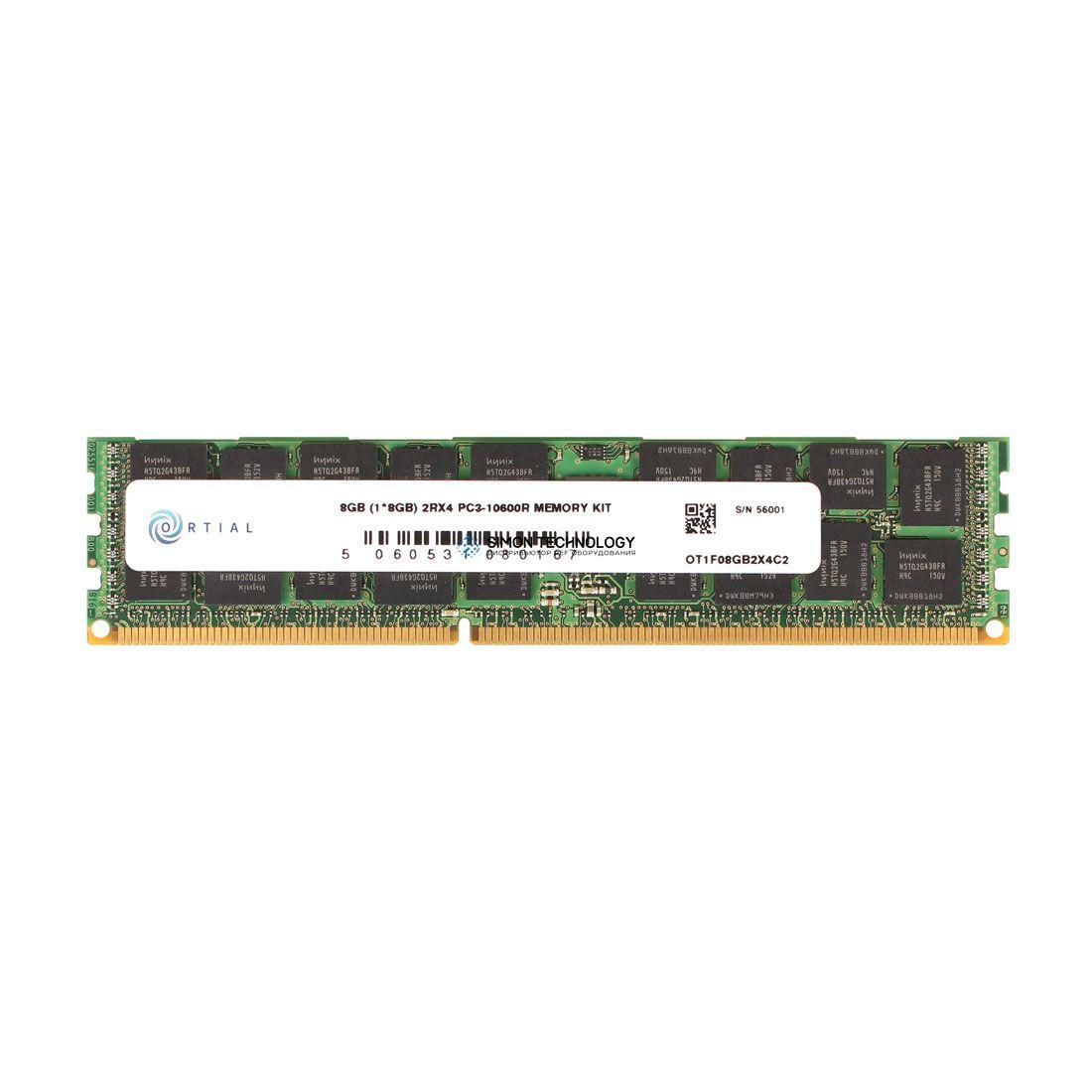 Оперативная память Ortial 8GB (1*8GB) 2RX4 PC3-10600R MEMORY KIT *LIFETIME WNTY* (43X5056-OT)