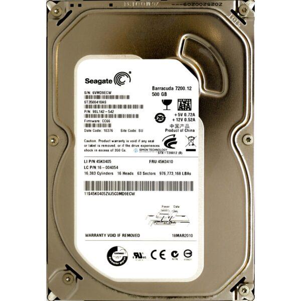 "Lenovo 500GB 7.2K 3Gbps 3.5"" SATA HDD (45K0405)"