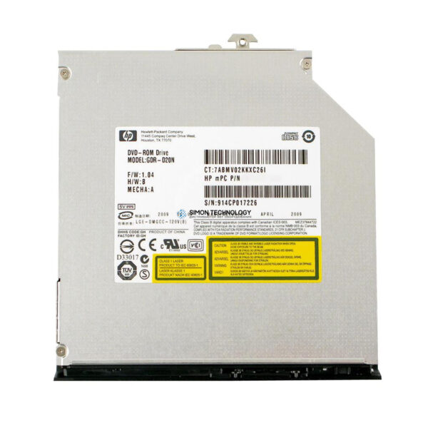 HP Dvd-rom slim for dl120 g5 dl360 g6 dl380 g6 (461644-932)