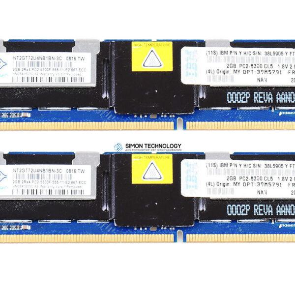 Оперативная память IBM MEM KIT 4GB PC2-5300 CL5 ECC DDR2 SDRAM FBDIMM (46C7419-NEW)