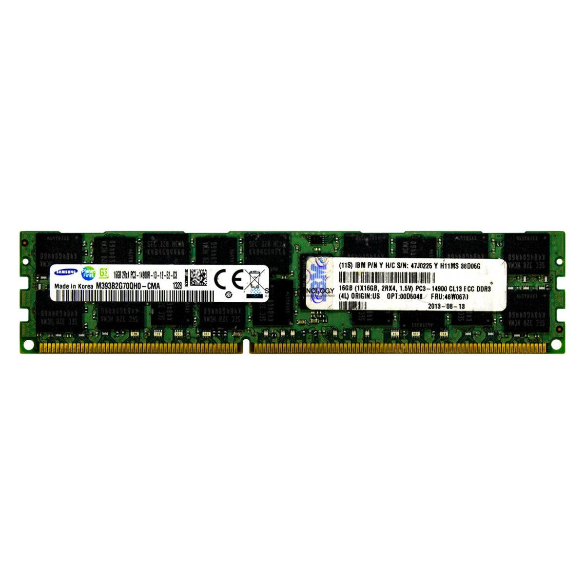 Оперативная память IBM ORTIAL 16GB (1X16GB) 2RX4 PC3L-12800 CAS-11 LP MEMORY KIT (47J0226-OT)