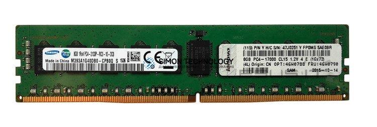 Оперативная память Samsung LENOVO IBM 8GB TruDDR4 (1Rx4, 1.2V) PC4-14700 LP RDIMM (47J0251)