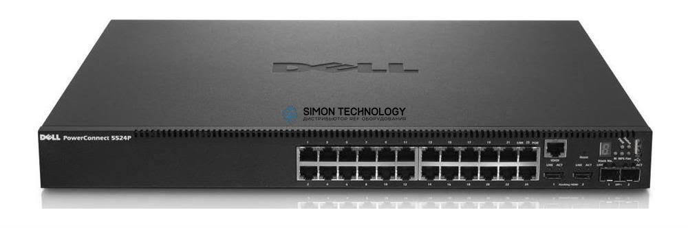 Dell Dell PowerCon t 5524P 24x 1GbE PoE 2x SFP+ 10GbE - (4T7PN)
