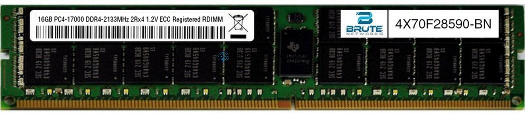 Оперативная память Lenovo SAMSUNG 16GB DDR4 2133MHz 2Rx4 1.2V RDIMM (4X70F28590-OEM)