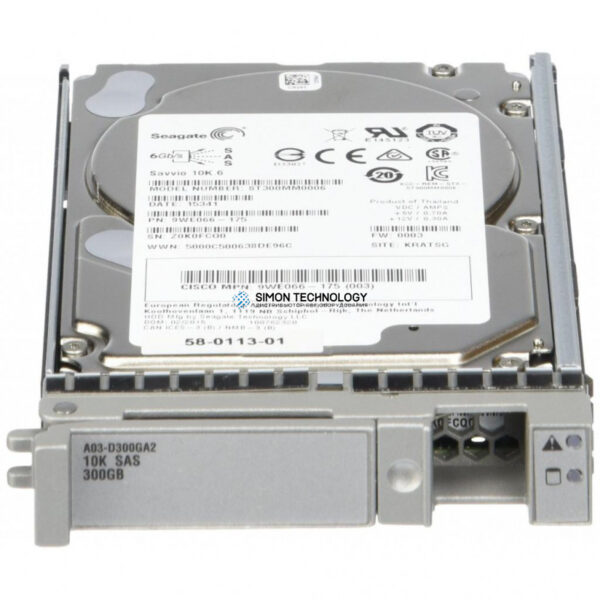 "Cisco Cisco 300GB 10K 6G 64MB 2.5"" SAS SERVER HDD (58-0113-01)"