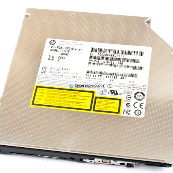HP HPI DVD 6X BD-Combo NonLS ST BE No (610454-700)