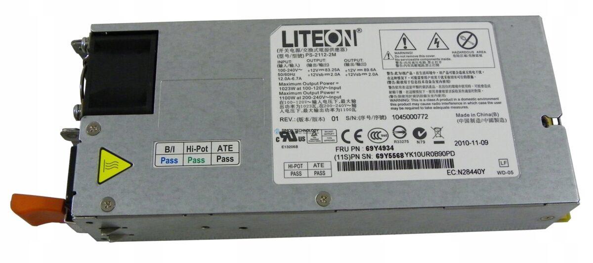 Блок питания IBM Lenovo 1100W P/S (69Y4934)