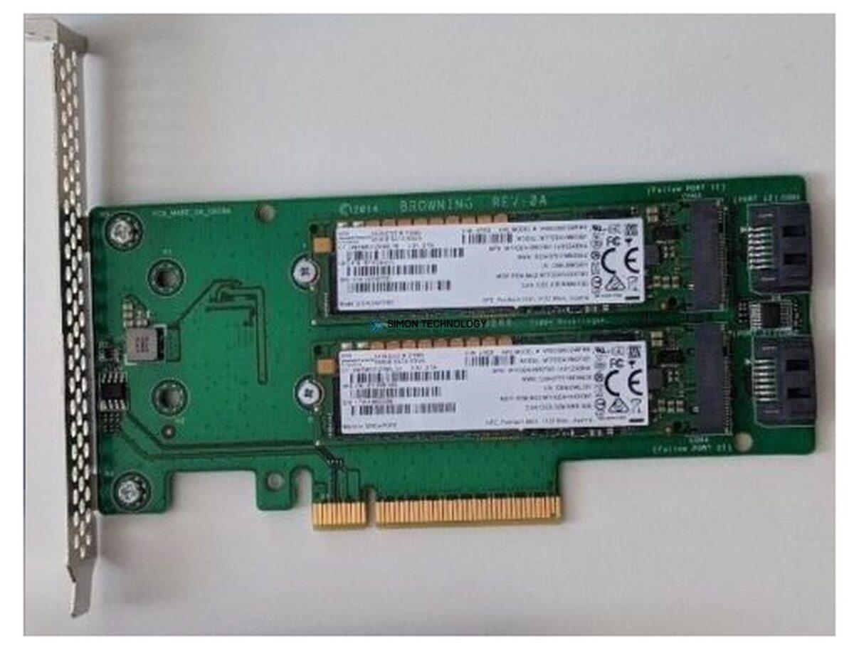 HP HP SATA M.2 DUAL DRIVE PCIE RISER CARD (759238-001)