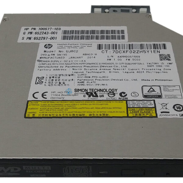 HP HP DL360 Gen9 SFF DVD-RW/USB Kit (764632-B21)