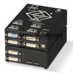 CATx KVM Extender - DVI-D USB HID audio serial (ACS4222A-R2)