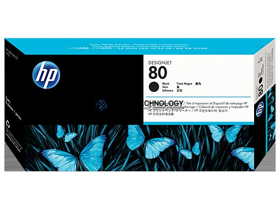 HP 80 - Tintenpatrone Original - Schwarz - 17 ml (C4820A)