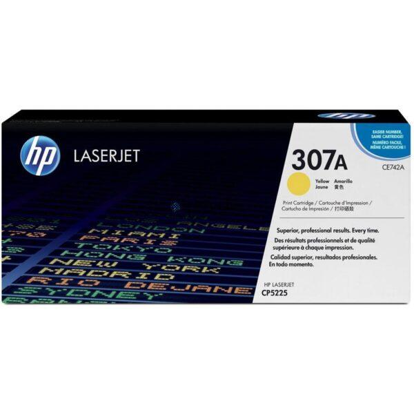 HP 307A - Tonereinheit Original - Yellow - 7.300 Seiten (CE742A)