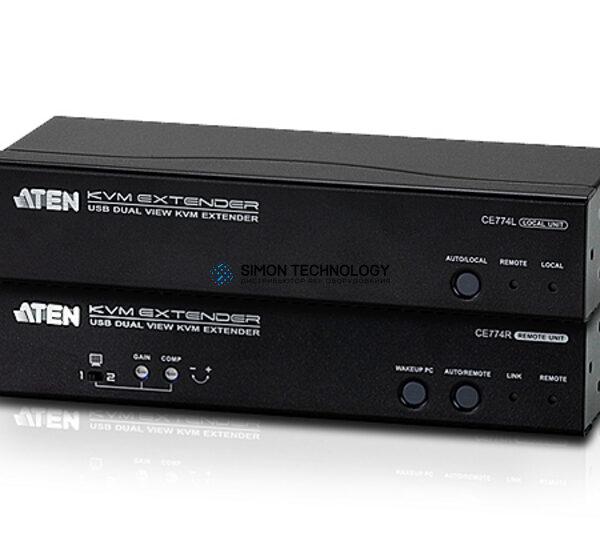 Aten Dual View USB / VGA KVM Extender Audio + (CE774-AT-G)