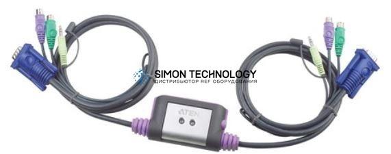 Aten 2-Port PS/2 VGA KVM Switch w/Audio (CS62AZ-AA)