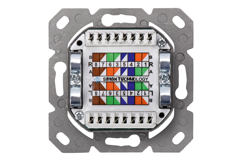 Digitus Cat6a Class EA Network Outlet. Shielded 2x RJ45 (DN-9008-1)