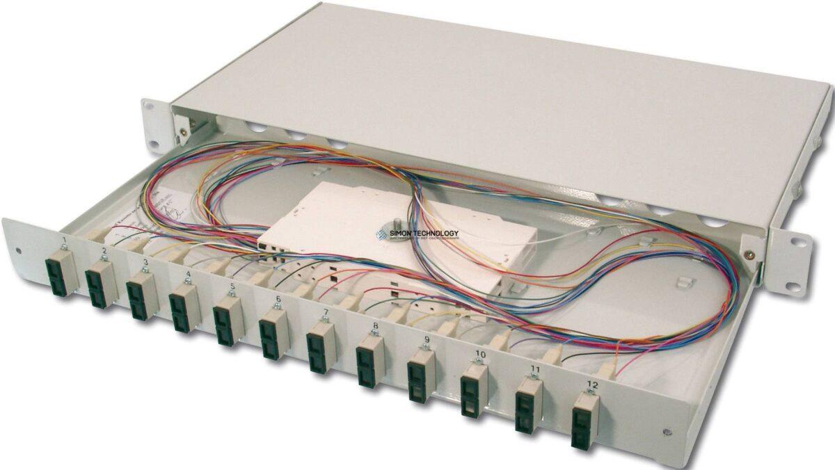 Digitus Fiber Optic Sliding Splice Box. 1U. Equipped 12x S (DN-96321)