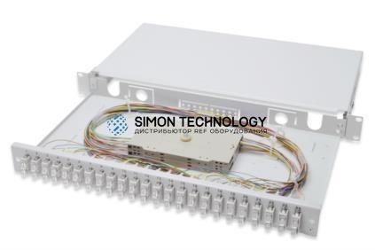 Digitus Fiber Optic Sliding Splice Box. 1U. Equipped 24x S (DN-96322-4)