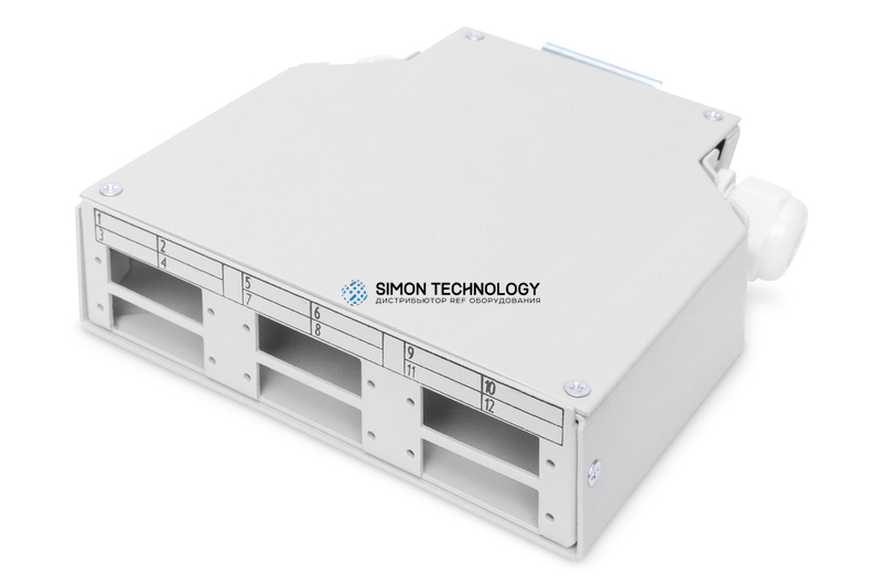 Digitus DIN Rail Splicing Box for 6x SC//DX Couplers. Grey (DN-96890)