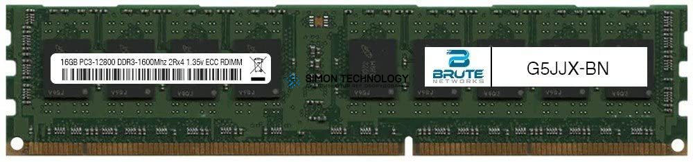 Оперативная память Dell SAMSUNG 16GB DDR3 1600MHz 2Rx4 1.35V RDIMM (G5JJX-OEM)