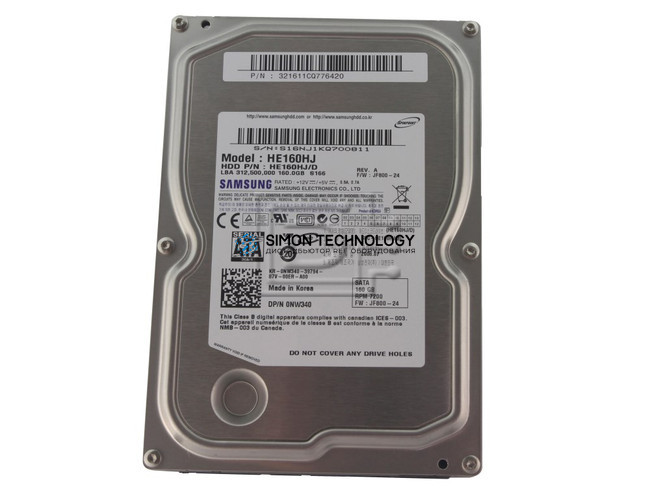 "Dell DELL 160GB 7.2K 3.5"" SATA HDD (HE160HJ)"