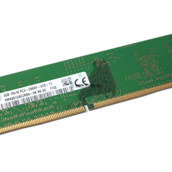 Оперативная память Hynix HYNIX 4GB (1*4GB) 1RX16 PC4-20800V-U DDR4-2666MHZ UDIMM (HMA851U6CJR6N-VK)