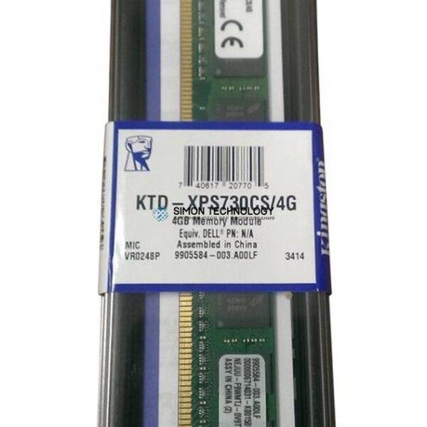 Оперативная память Kingston KINGSTON 4GB (1*4GB) 1RX8 PC3-12800U DDR3-1600MHZ 1.5V VLP UDIMM (KTD-XPS730CS/4G)