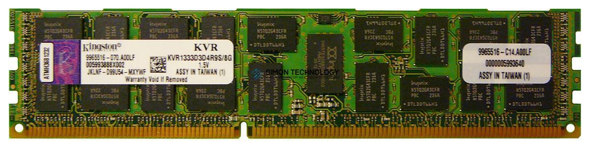 Оперативная память Kingston KINGSTON 8GB 2RX4 PC3-10600R (KVR1333D3D4R9S/8G)