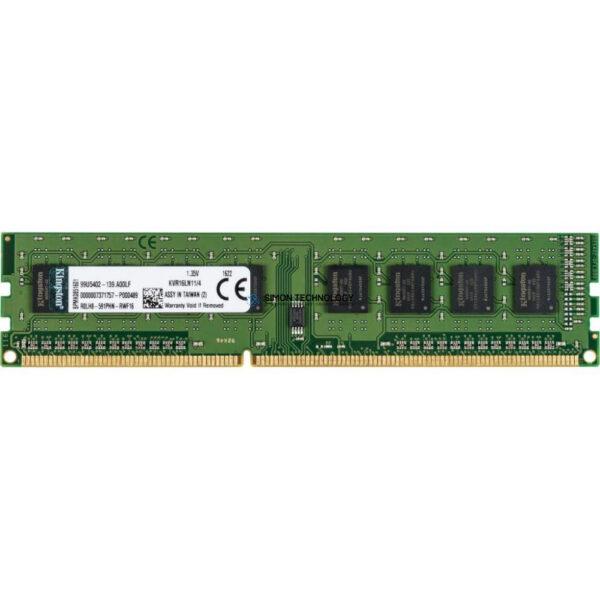 Оперативная память Kingston KINGSTON 4GB (1*4GB) 1RX8 PC3L-12800 DDR3-1600MHZ VLP MEMORY (KVR16LN11/4)
