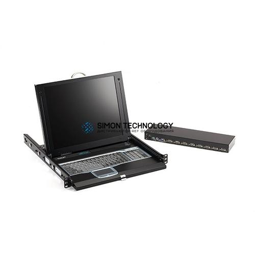 Black Box Black Box 17IN 1U LCD Tray 1 VGA. 16 Port CATX W(/ (KVT417A-16CATX-4IP)