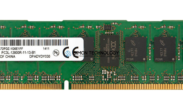 Оперативная память Micron MICRON 8GB (1*8GB) 2RX8 PC3L-12800R 1.35V MEMORY MODULE (MT18KSF1G72PDZ-1G6E1)