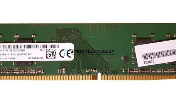 Оперативная память Micron MICRON 4GB (1*4GB) 1RX16 PC4-19200T-U DDR4-2400MHZ UDIMM (MTA4ATF51264AZ-2G3)