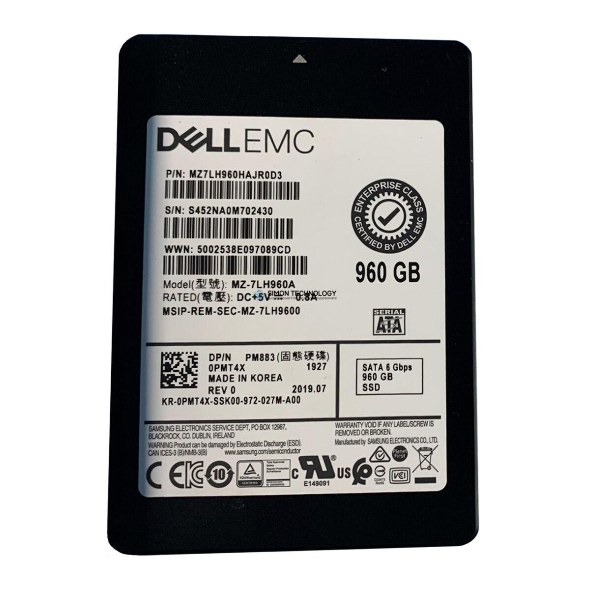 """SSD Dell DELL 960GB 6Gbps 2.5"""" SATA SSD (MZ7LH960HAJR0D3)"""