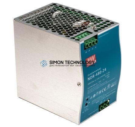 Блок питания Mean well Moxa Din-Rail 24Vdc Supply -20~70Gr (70Gr@60%) (NDR-480-24)