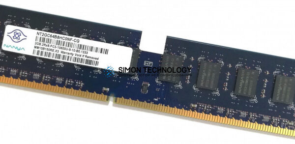 Оперативная память Nanya NANYA 2GB (1*2GB) 2RX4 PC2-5300P DDR2-667MHZ ECC SDRAM (NT2GT72U4NB0BV-3C)
