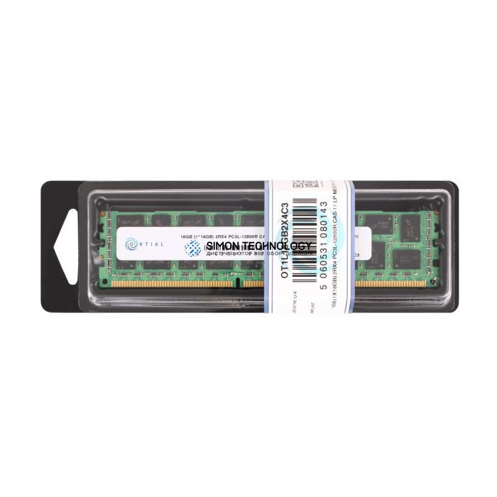 Оперативная память Ortial ORTIAL 16GB (1X16GB) 2RX4 PC3L-12800 CAS-11 LP MEMORY KIT (OT1L16GB2X4C3)