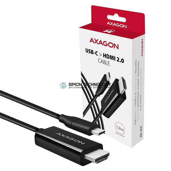 Адаптер Axagon AXAGON USB-C -> HDMI 2.0 Cable 1.8m 4K/60Hz (RVC-HI2C)