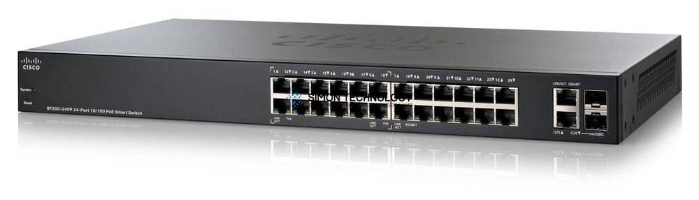 Cisco Cisco Switch Small Business 24x 100Mbit PoE 2x RJ45 2x SFP 1GbE - (SF200-24P)