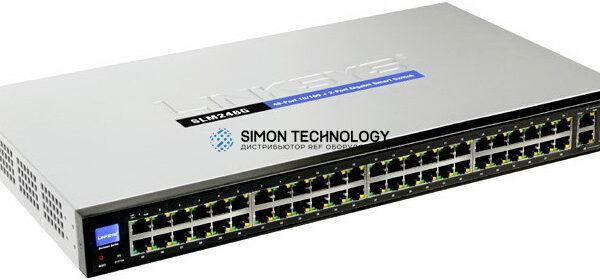Cisco 48-port 10/100 + 2-port 10/100/1000 Gigabit Smart Switch (SLM248G-G5)