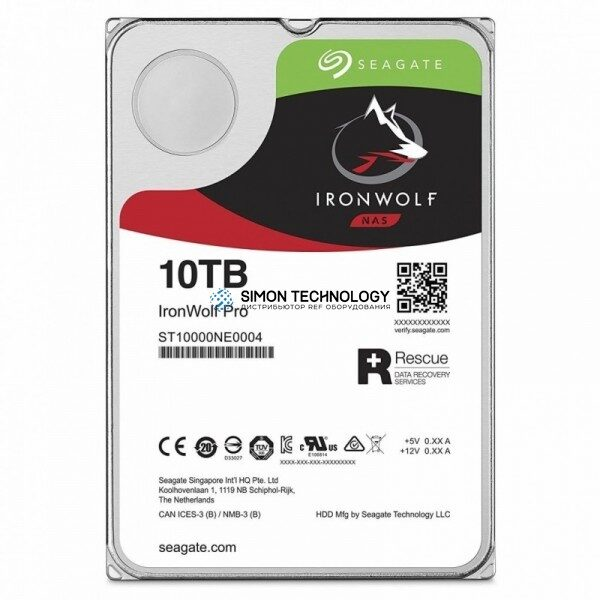 Seagate IronWolf Pro - Festplatte - 10 TB - inte (ST10000NE0004)
