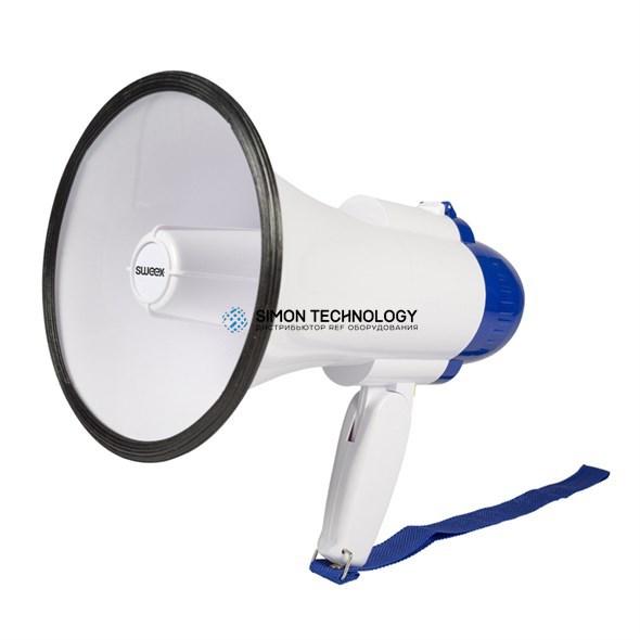 Sweex Megaphone W/Built-in Microphone. White/Blue (SWMEGA10)