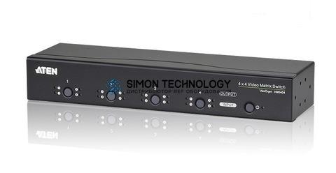Aten Aten 4 x 4 VGA Audio/Video Matrix Switch + RS232 (VM0404-AT-G)